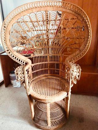 Alquiler mobiliario mimbre vintage 60's y 70's