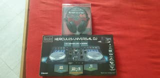 Hercules Universal DJ más Auriculares HDP DJ M 40.