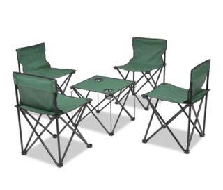 Set de muebles plegables de camping 5 piezas