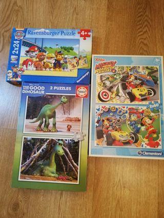 3 puzzles infantiles