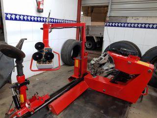 Maquina desmontadora ruedas camión y agrícola
