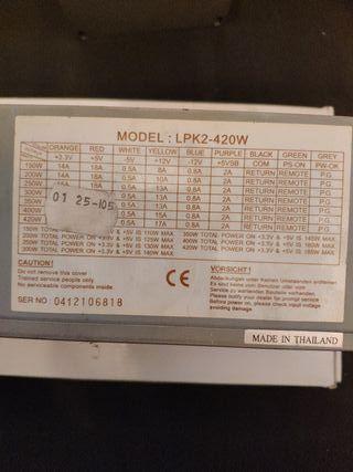 Fuente de alimentacion LPK2 420W (vatios)