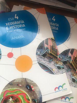 Libros Geografia e historia 4 ESO