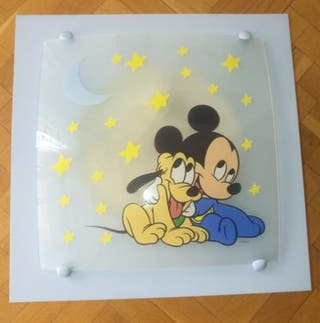 lámpara infantil de Mickey mouse