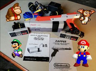 NINTENDO NES Action Set + muchos juegos.