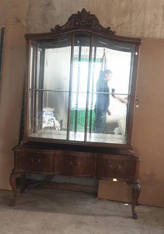 vitrina de cristal biselado