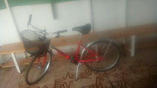 bicicleta con llantas de aluminio