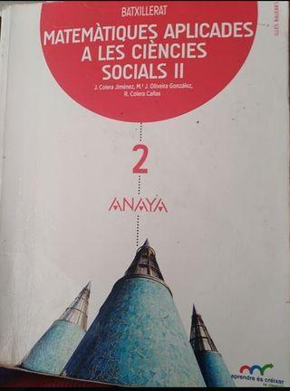 libro matematicas aplicadas. 2bachiller