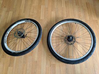 juego llantas bicicleta montaña MTB 26 y gurpil 24