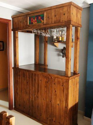 Mueble barra bar rústica