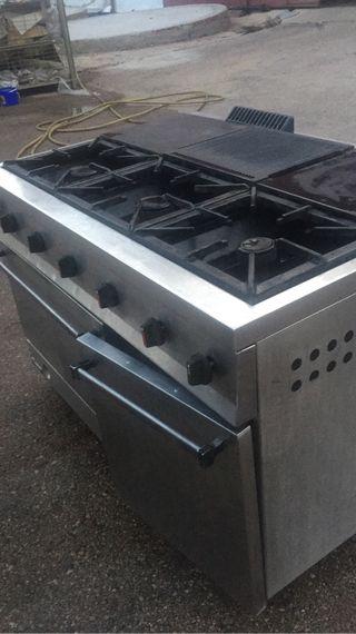 Cocina repagas de gas 6 quemadores