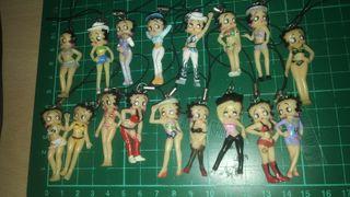 17 figuras llavero de Betty Boop fabricadas en pvc