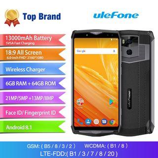 Ulefone power5,bateria 13.000 mh4 cámaras 21mgpx