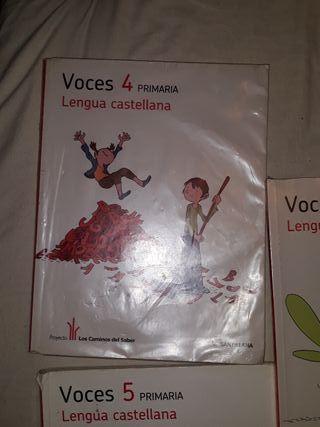libros llengua Castellana 3, 4 y 5 primaria