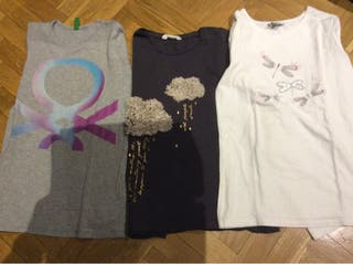 Lote 3 camisetas talla 11/12