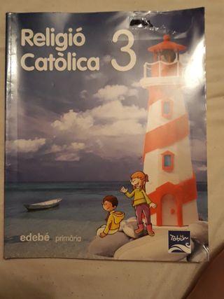 libro religión católica 3r primaria