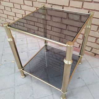 Mesa retro metal dorado vintage años 50/60