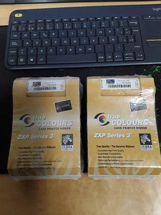 Pack 2 cintas impresora zebra ix true colors