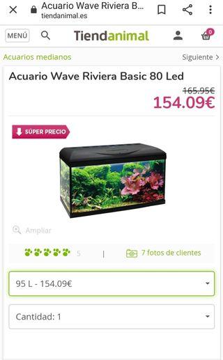 acuario 95 litros