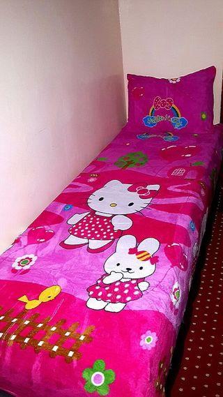 manta fina+almohada de cama de niños