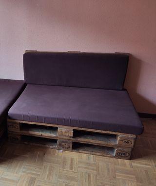 Sofá palets. Negociable