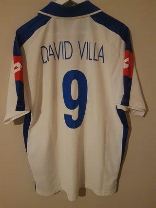 camiseta de futbol real Zaragoza david villa 9