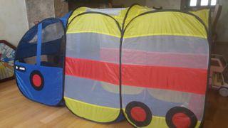 Autobús parque bolas o tienda campaña