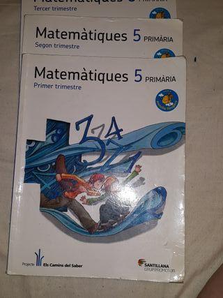libros Matemáticas 5 primaria