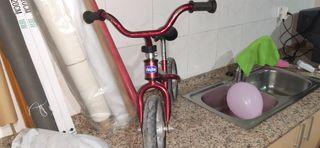 Bicicleta sin pedales iniciación.