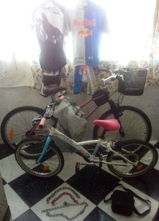 bicicleta de adulto y regalo accesorios