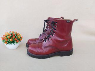 Camper botas piel rojo punta acero Talla 40