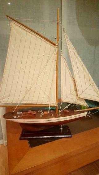barco marquetería para decorar