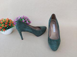 Pedro Miralles zapatos de piel verdes