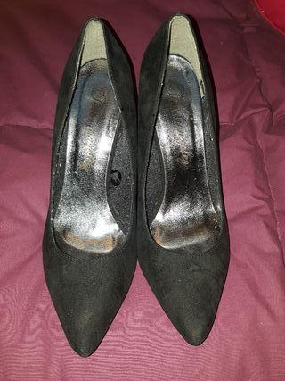 Zapatos de tacón alto talla 38 negros