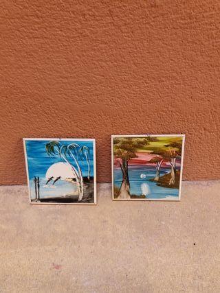 azulejos pintura artesana cuadro para colgar
