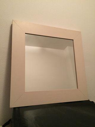 Espejo madera 50x50