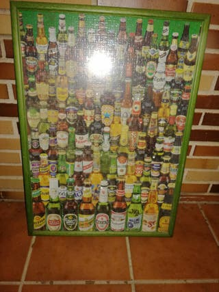 cuadro puzzle cervezas