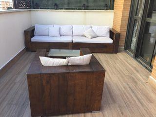 Conjunto sofa sillón exterior