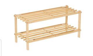 2 zapateros madera sin tratar