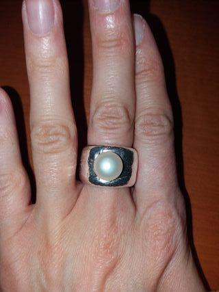 anillo duna perla