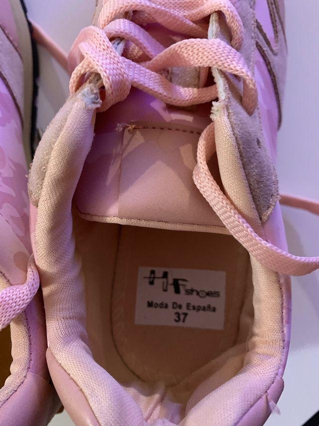 Zapatillas rosas camuflaje