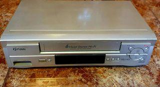 Video Reproductor VHS 6 cabezales FUNAI (Más Imagen y Sonido en mi perfil