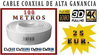Cable 100 mts.......Coaxial HD-3D-4K.