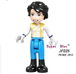 minifigura tipo lego príncipe Eric la sirenita