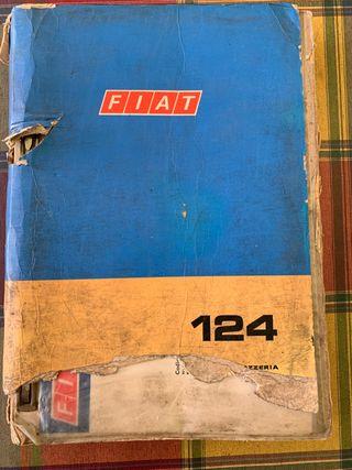 Fiat 124 libro de piezas de recambio