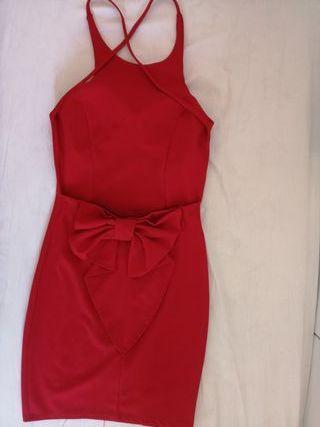 Vestido fiesta rojo talla S