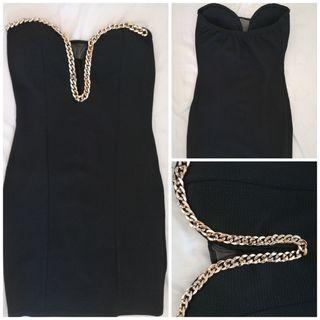 vestido mujer negro talla S