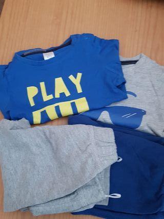 lote Pantalón + camiseta niño t. 86 12-18 meses