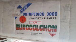 Colchón ortopédico y somier 135×190