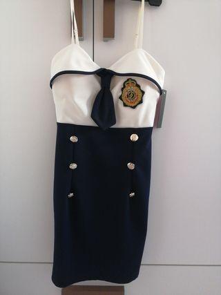 vestido nuevo marinero/azafata talla S